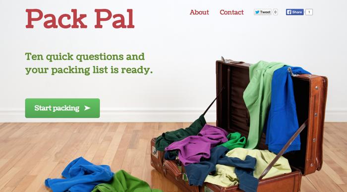 online packing list maker
